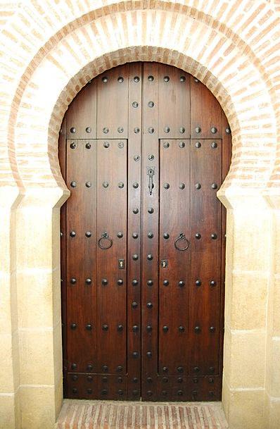 Door Entrance Timber Arab Wood Cordoba Spain Andal