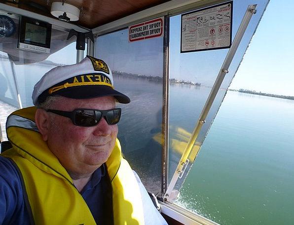 Man Gentleman Being Captain Head Person Power Boat