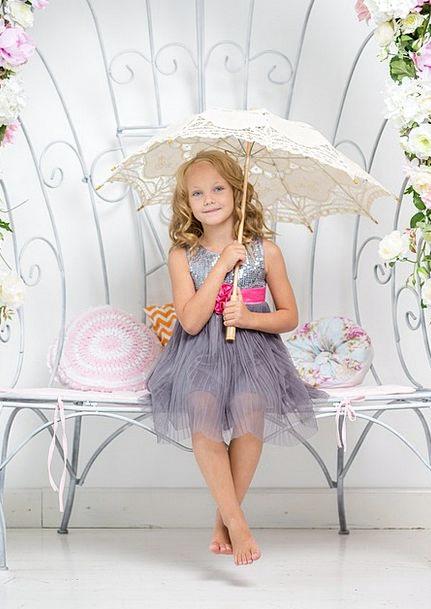 Girl Lassie Canopy Bench Seat Umbrella Child Sitti