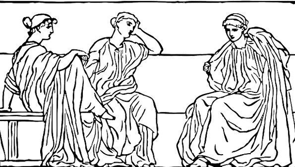 Roman Classical Public Ancient Antique People Reli