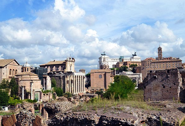 Rome Square Four-sided Italy Old Ancient