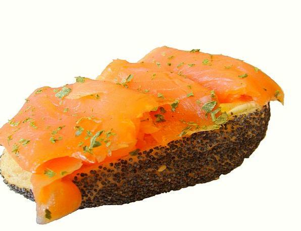Salmon Sandwich Drink Food Sandwich Smoked Salmon