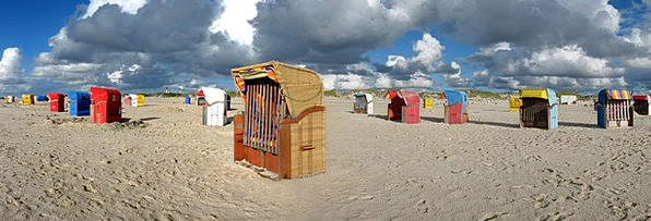 Beach Chair Vacation View Travel Amrum Panorama Be