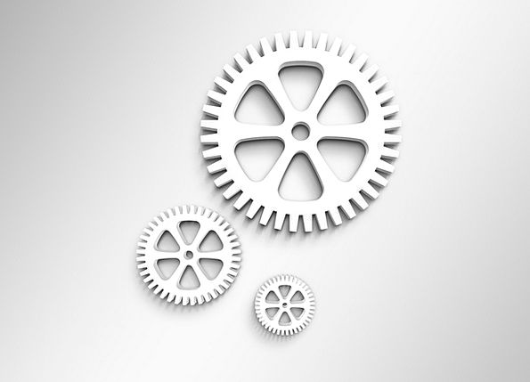 Gears Mechanisms Craft Industry Work Effort Workfl