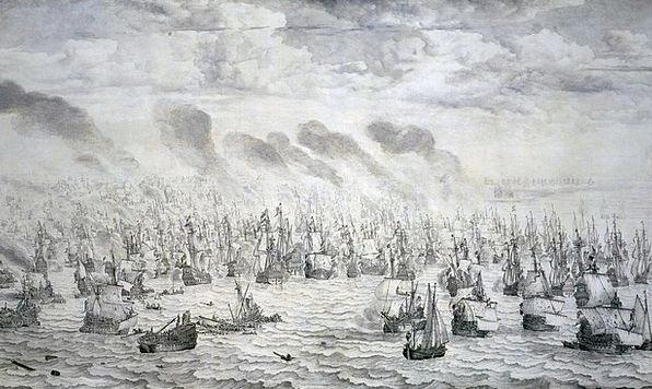 Battle Fight War Conflict Naval Battle Scheveninge