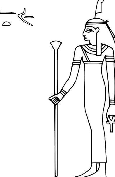Egypt Goddess Deity Hieroglyph Free Vector Graphic