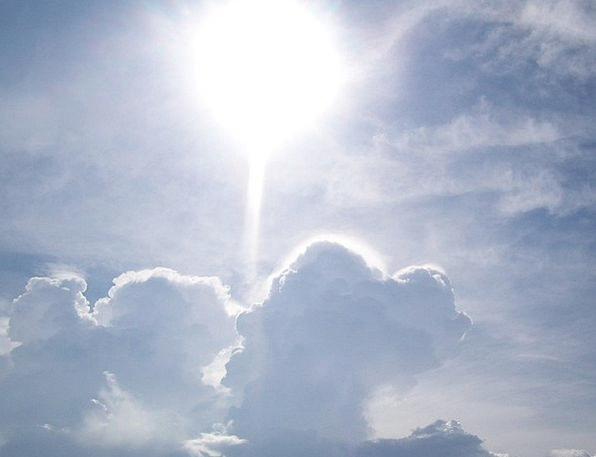 Sun Sky Blue Light Cloud Mist Cloudy Bright Overca