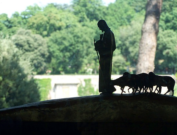 Good Shepherd Beef Statue Figurine Lamb