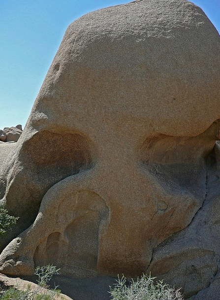 Skull Rock Landscapes Nature Tourist Attraction Jo
