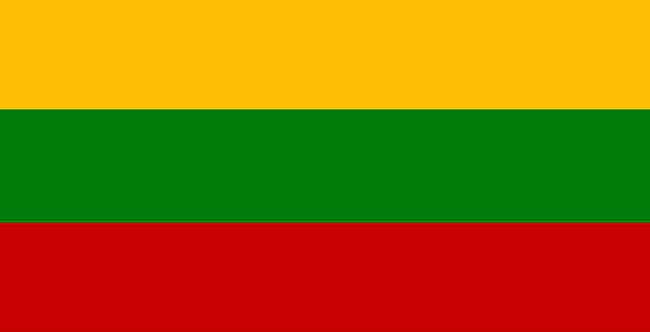 Lithuania Standard National Nationwide Flag Countr