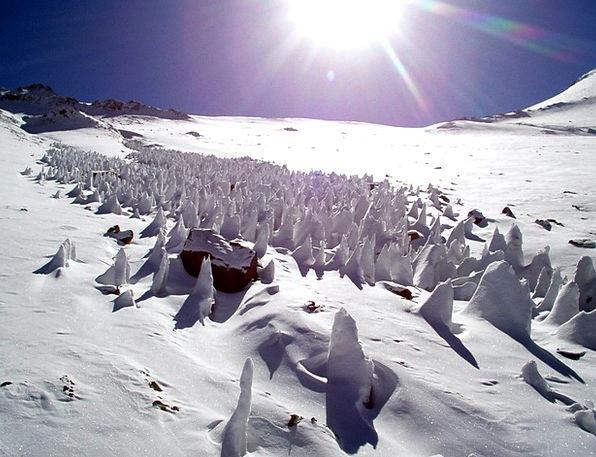 Snow Snowflake Frost Penitentes Ice Penitents Acon