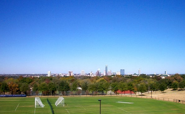 Soccer Field Texas Austin Skyline Horizon Sports S