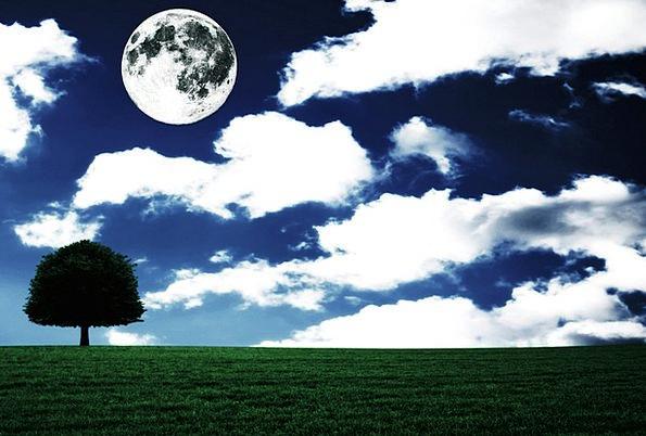 Full Moon Landscapes Scenery Nature Fantasia Lands
