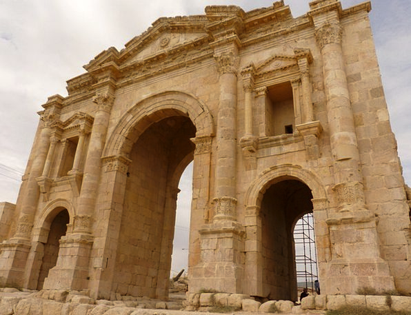 Temple Of Artemis Vacation Travel Jerash Gerasa Bu