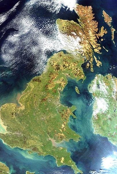 United Kingdom Satellite Image England Satellite P