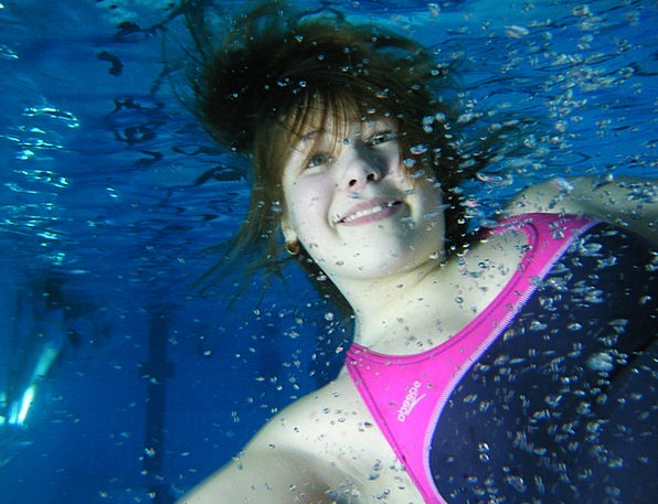 Underwater Submerged Youngster Water Aquatic Child