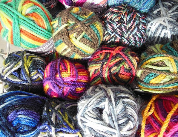 Yarn Story Tinted Multi-Colored Bright Colored Yel