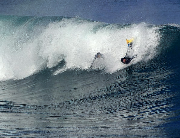 Bodyboarding Surf Spray Surfing Wave Upsurge Sea W