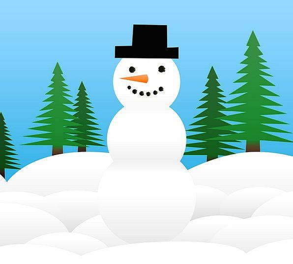 Snow Man Snow Snowflake Christmas Winter Season Gr