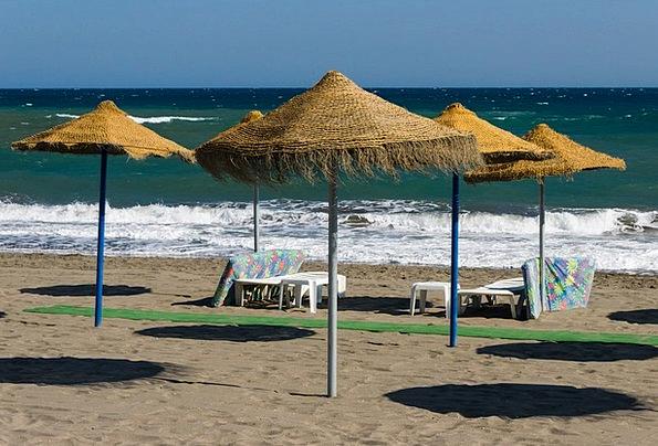 Beach Umbrellas Vacation Travel Andalusia Spain Ho