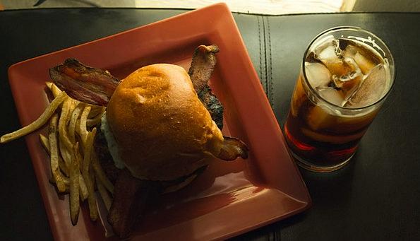 Burger Drink Chips Food Whiskey Fries Drink Bevera