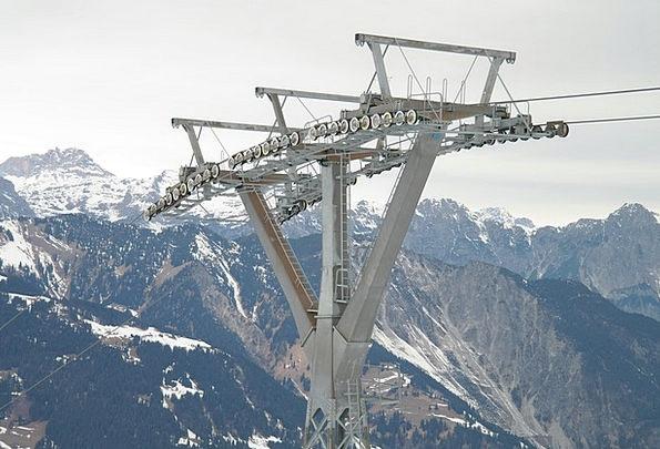 Gondola Poles Cableway Masts Masts Cable Car Ski A