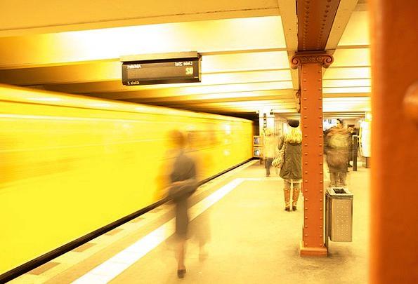 Metro Berlin Railway Station Platform Stage