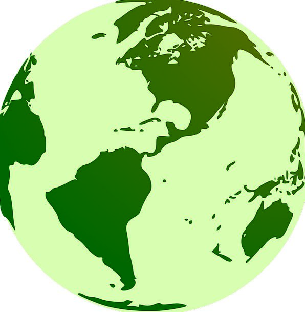 Terra Earth Map.Globe Soil Green Lime Earth World Biosphere Terra World Map