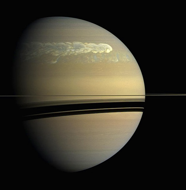 Saturn Earth Surface Superficial Planet Forward On