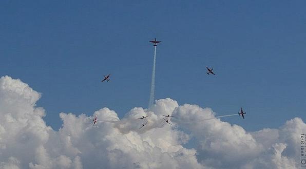 Flugshow Pc-7 Team Pilatus