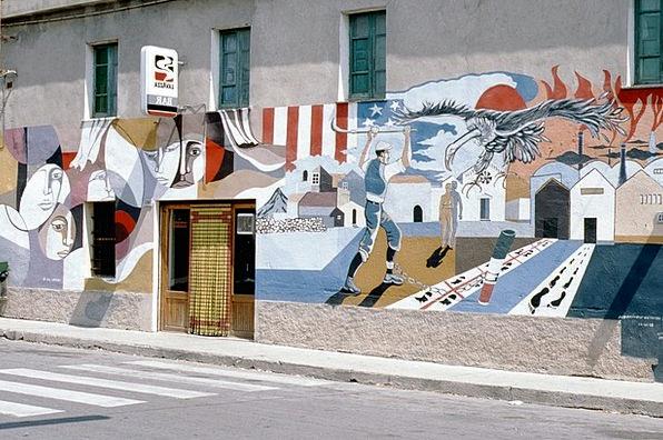 Sardinia Murals Frescoes Murales Graffiti Drawings