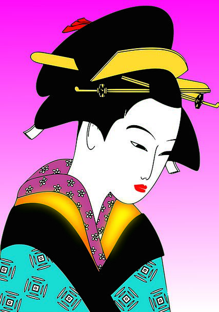 Geisha Girl Traditional Old-style Japanese Traditi