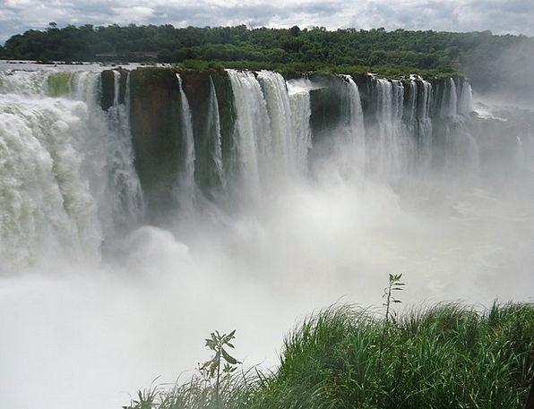 Iguazu Landscapes Cascade Nature Falls Waterfalls