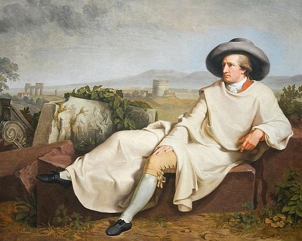 Johann Wolfgang Von Goethe Bard Portrait Represent