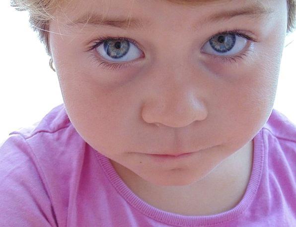 Kids Children Judgment Blue Azure Eye Hairs Locks