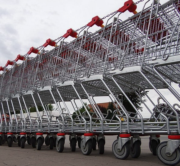 Shopping Cart Buying Supermarket Superstore Purcha