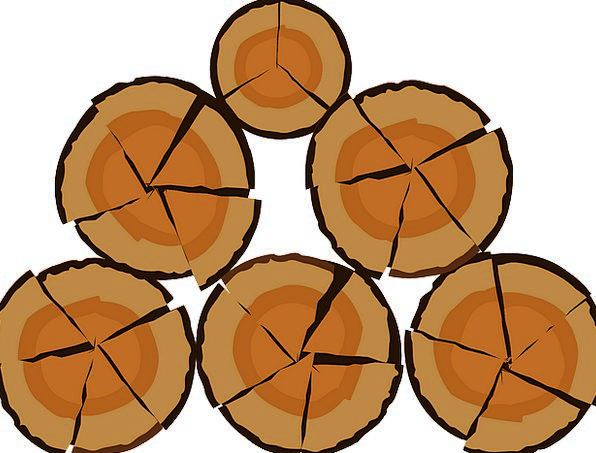 Logs Woods Wood Sawn Woodpile Timber Wooden Choppe