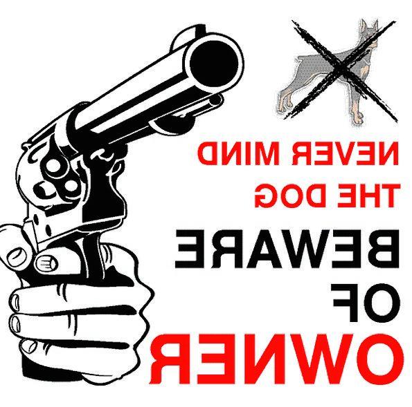 Safety Care Cautionary Gun Firearm Warning Beware