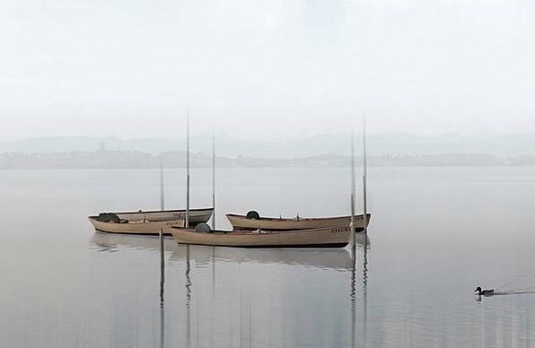Boats Ships Landscapes Understand Nature Haze Mist