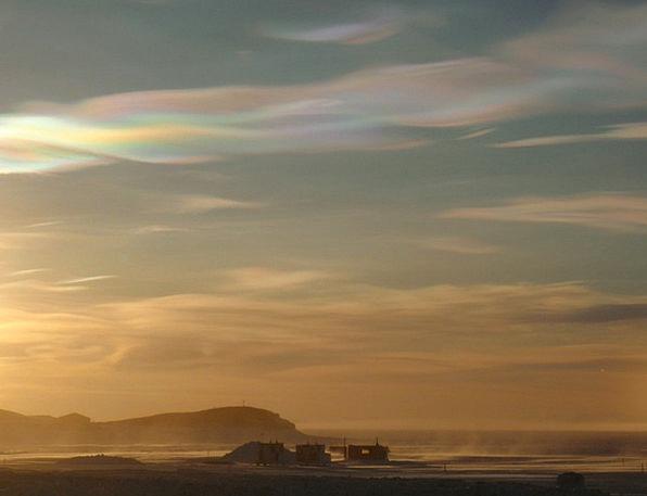 Nacreous Vapors Ross Clouds Sea Island Isle Airfie