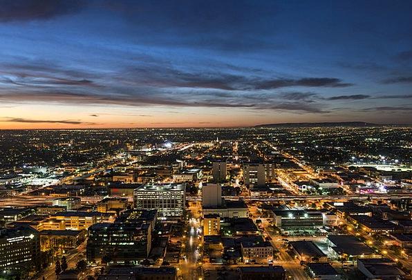 Skyline Los Angeles Buildings Architecture City Du