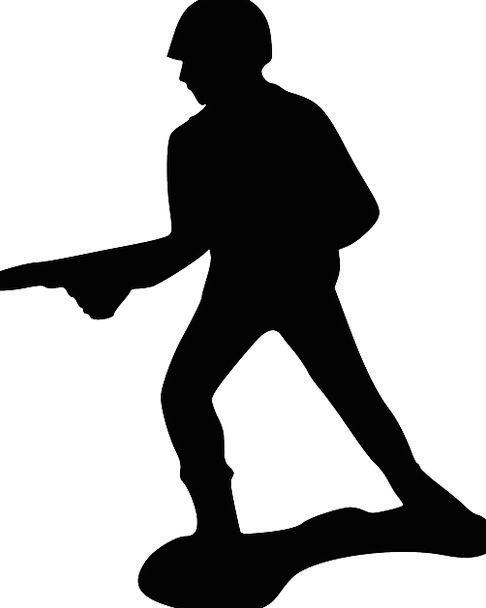 Soldier Fighter Firearm Silhouette Outline Gun Poi
