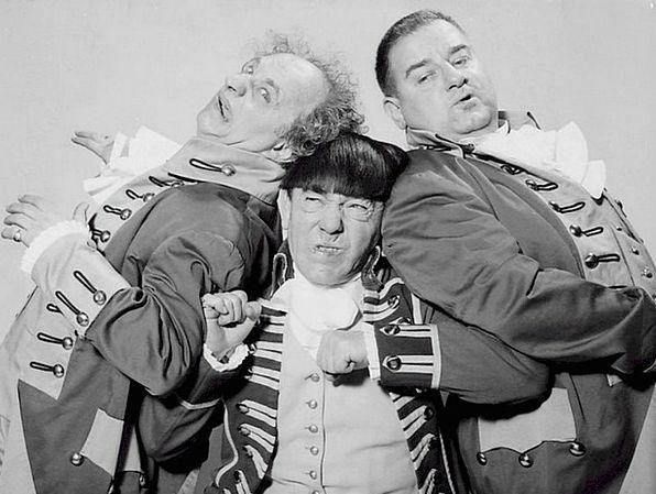 Three Stooges Moe Howard Joe Derita Cinema Larry F