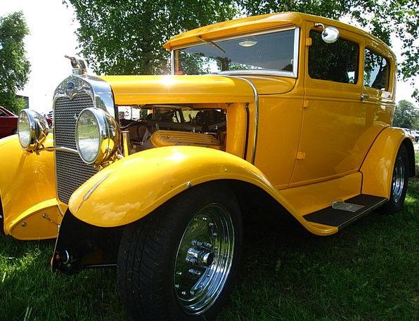 Hot Rod Traffic Creamy Transportation Car Carriage