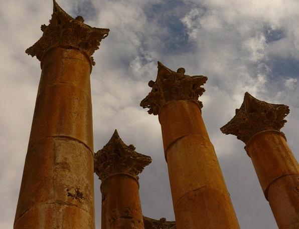 Temple Of Artemis Vacation Travel Jerash Gerasa Pi