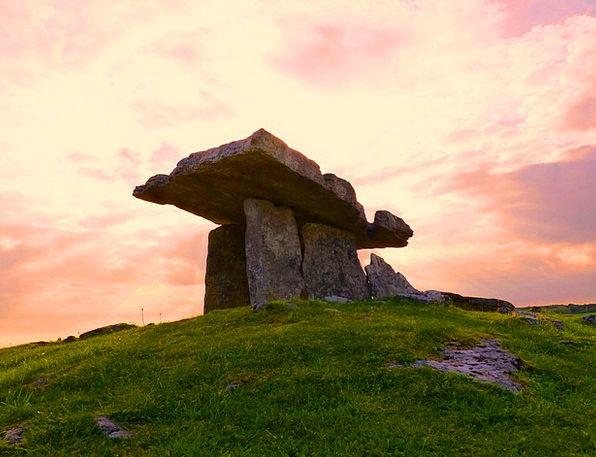 Dolmen Megalith Grave Serious New Stone Age Irelan