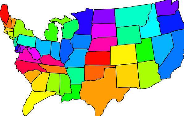 Map Chart Usa United States America States Conditions PixCove - Mapchart