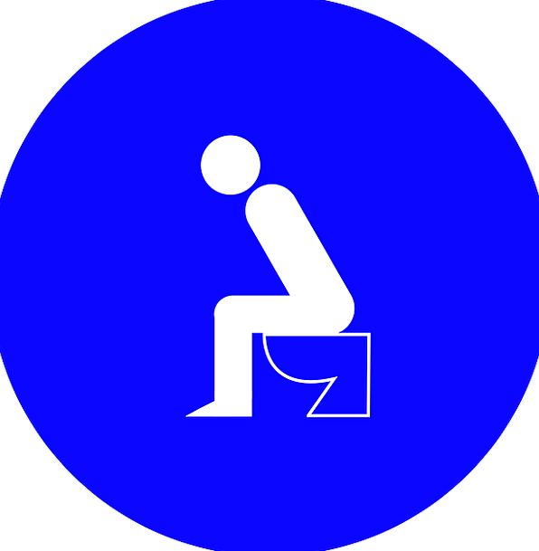 Toilet Bathroom Crapping Symbol Restrooms Washroom