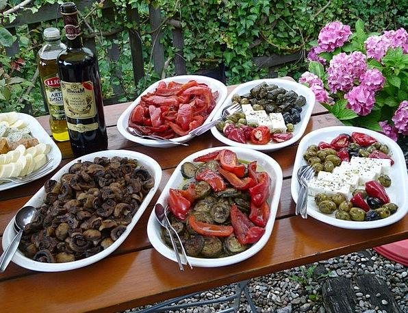 Buffet Rock Salads Salad Buffet Insert Olives Vine