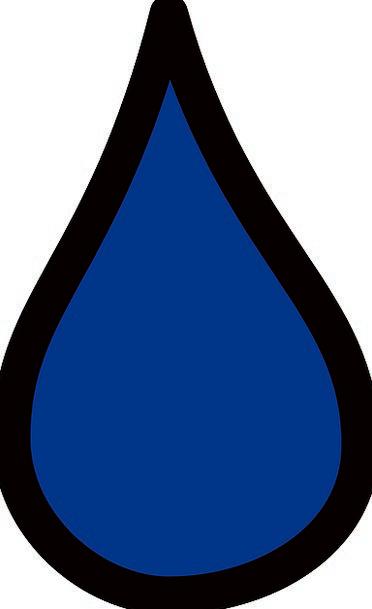 Drop Azure Water Aquatic Blue Falling Liquid Runny